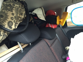 Our car boot really full of crap!